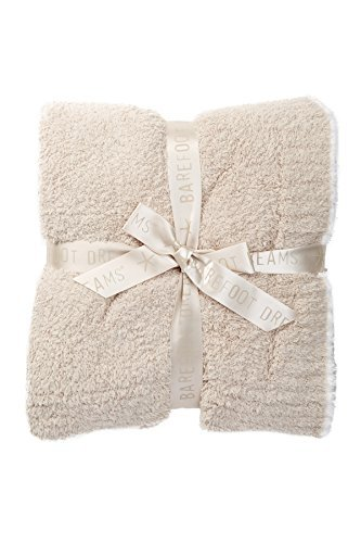 Barefoot Dreams Contrast Trim Throw Blanket 45