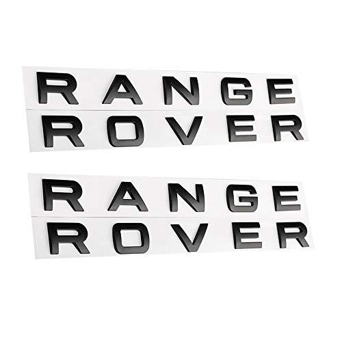 2 Set Gloss Black Letters Hood Trunk Tailgate Emblem Badge Nameplate fit for Range Rover