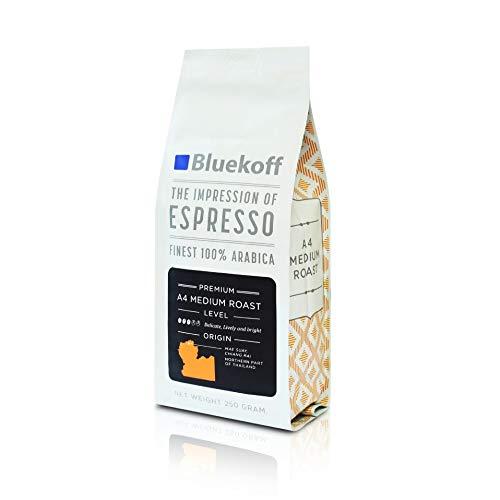 Thailand Single Farm Single Origin Specialty Roasted Coffee Beans 8.8 Oz - Local Whole Bean Coffee (Medium Roast) from Bluekoff
