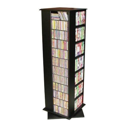 Revolving Media Storage Tower Black 2391BL
