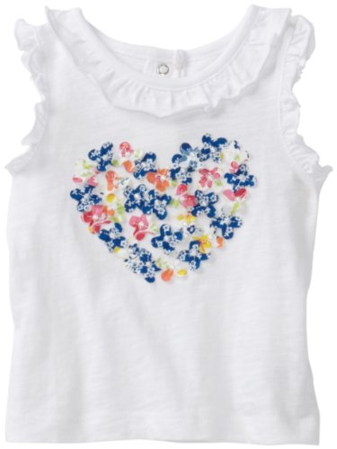 Little Me Baby Girls' 3D Flower Heart Tee