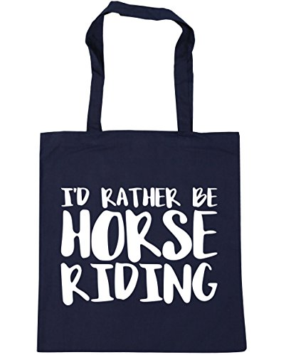 x38cm I'd litres Bag Rather HippoWarehouse Horse Navy Gym Be Tote 42cm Beach Shopping Riding 10 French dP1qAOn