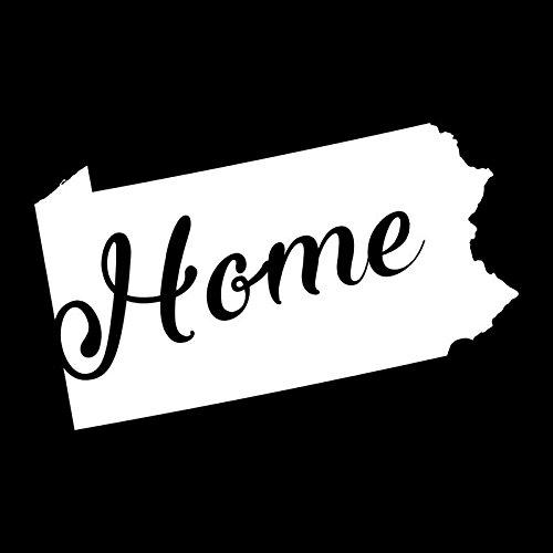 Pennsylvania Home State Vinyl Decal Sticker | Cars Trucks Vans Walls Windows Laptops Cups | White | 5.5 X 3.4 | KCD1953