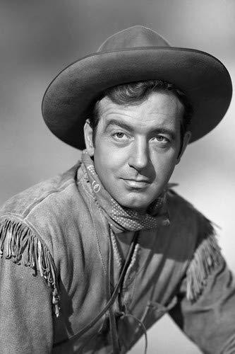 John Payne Western suede jacket hat kerchief around neck 11x17 Mini Poster ()