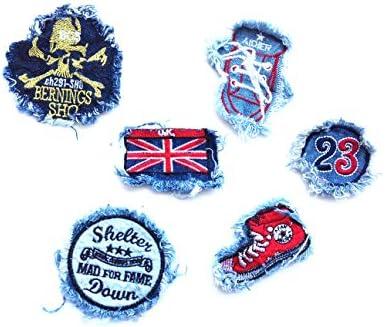 6 parches bordados de vaqueros,decoración para ropa (HC Enterprise ...