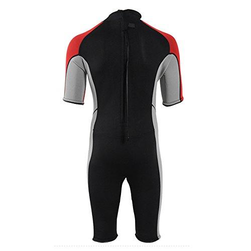 2015 Trend Men Shorty 3mm One Piece Surfing Warm Swimsuit Swimwear Bathing Suit QQZ025 Red L