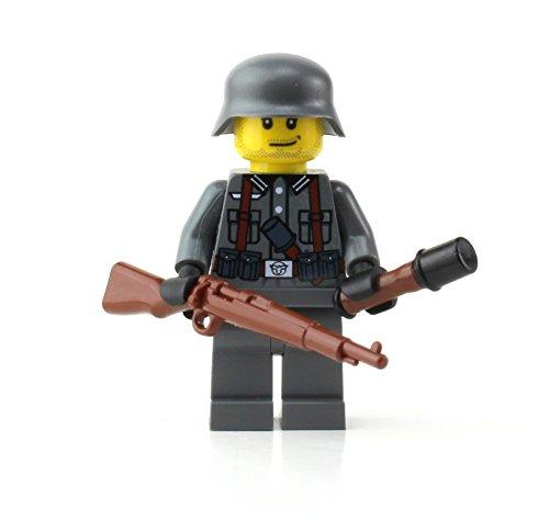 Battle Brick German Kar98 WW2 Soldier (SKU16) Custom Minifigure (Lego Sets War World)