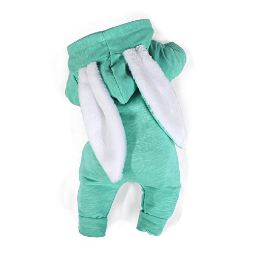 Minilove Baby Rabbit 3D Ear Hoodie Jumpsuit(Green(R)) 80/9M -