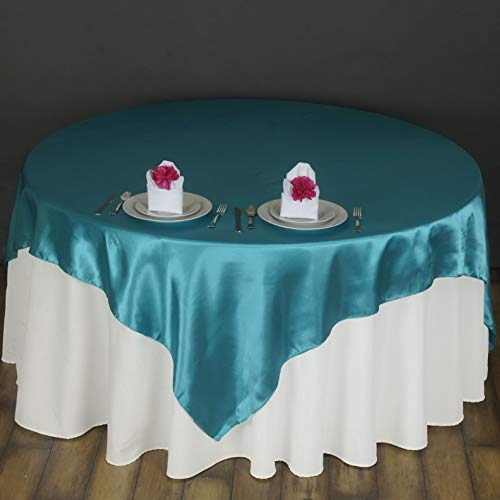 (Mikash Square Satin Table Overlays Wedding Catering Event Dinner Supply Decorations | Model WDDNGDCRTN - 5758 | 10 pcs /)