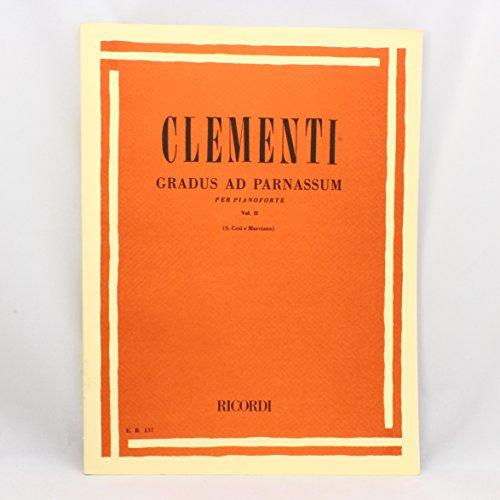 Partitions classique RICORDI CLEMENTI M. - GRADUS AD PARNASSUM VOL ...