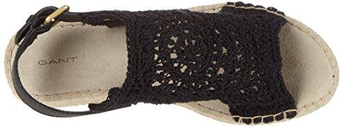 Gant Clara, Women's Open Toe Sandals Black (Black)
