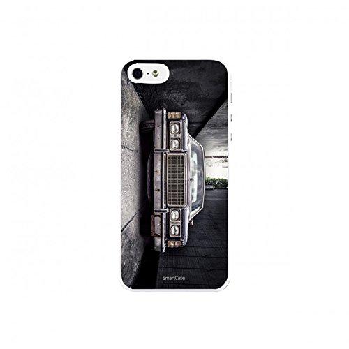 Coque + Verre Trempé pour iPhone 5/5S/SE SmartCase® RETRO CAR