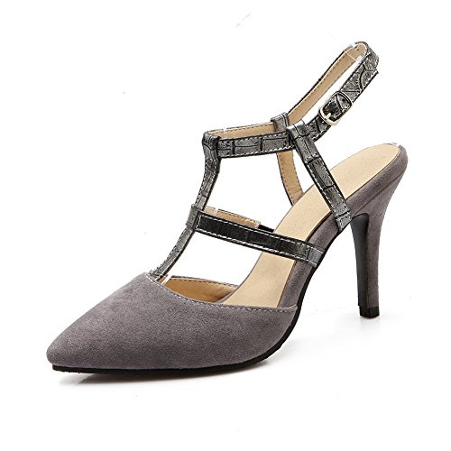 1TO9 Ladies High-Heels Fashion Gray Frosted Pumps-Shoes - 8 B(M) US ()