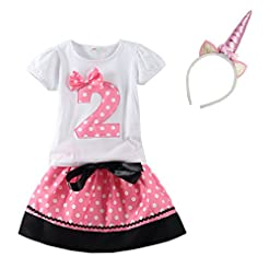 Mud Kingdom Little Girls Birthday Clothe...