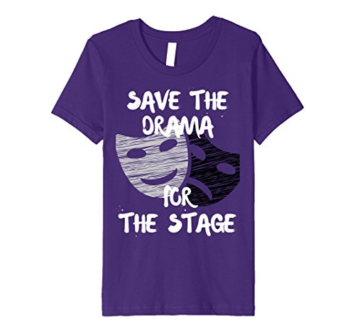 Kids Theater Drama Tshirt Acting Theatre Actor Actress Gift Tee 10 Purple - Actress Gift