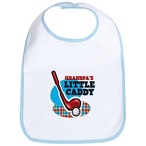 CafePress - Grandpa's Little Caddy Bib - Cute Cloth Baby Bib, Toddler Bib