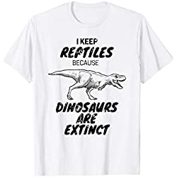 Reptile Keepers Dinosaur T Rex Extinction T-Shirt