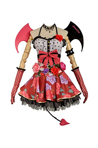 Love Live Little Devil Demon SR Awakening Uniform Fancy Dress Party Skirt (Small Female, Red Nozomi Tojo) ()
