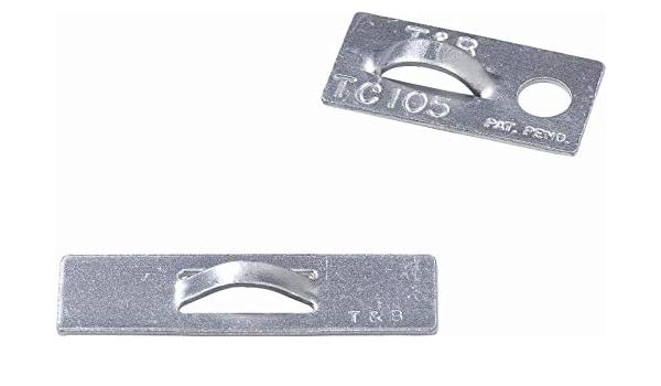 THOMAS /& BETTS TC105 CABLE TIE MTG BASE 25.4MM L X 12.7MM W ALUM
