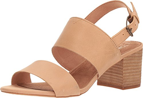 TOMS Poppy Sandals Honey Leather Womens 8 ()