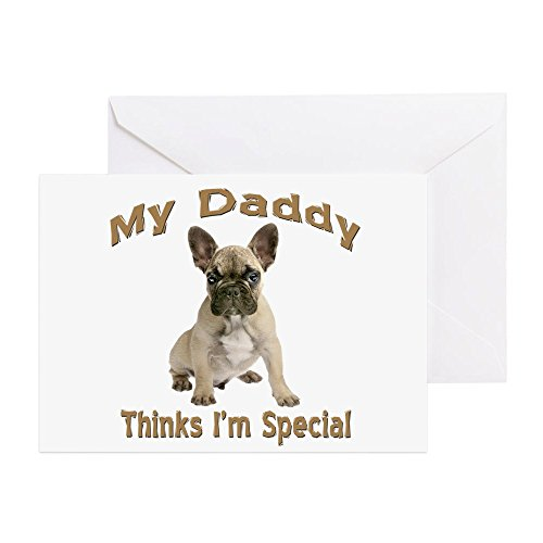 CafePress Bulldog Dad Says I'm Special Greeting Card, Note Card, Birthday Card, Blank Inside Matte