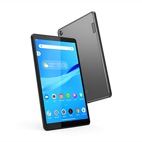Lenovo Tab M8 Tablet, 8″ HD Android Tablet, Quad-Core Processor, 2GHz, 16GB Storage, Full Metal Cover, Long Battery Life, Android 9 Pie, ZA5G0102US, Slate Black