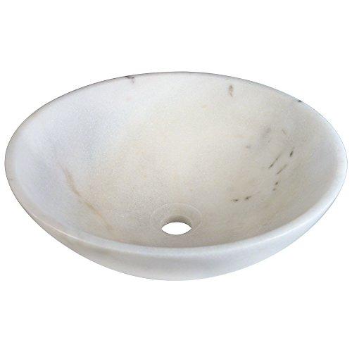 Stone Vessel Sink Set - 850W White Granite Vessel Sink