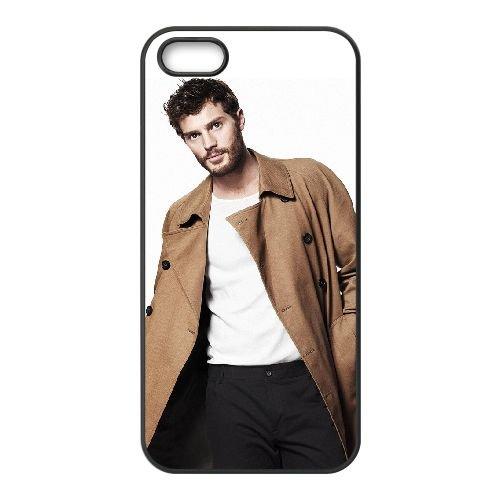 Jamie Dornan 001 coque iPhone 5 5S cellulaire cas coque de téléphone cas téléphone cellulaire noir couvercle EOKXLLNCD24690