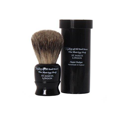 Travel Super Badger Shaving Brush, 8,25 cm, black - Taylor of old Bond Street
