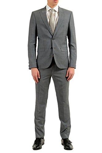 Hugo Boss Astor/Hens Men's 100% Wool Gray Two Button Suit SZ US 44R IT 54R