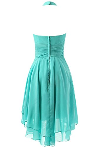 Sunvary Retro V cuello Cabestro gasa rodilla longitud partido vestido vestidos de dama para 2016mujeres Lilac