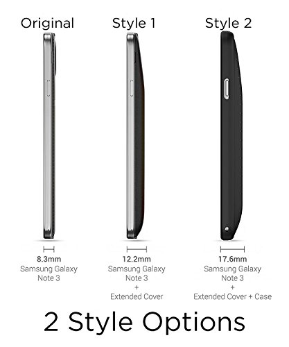 PowerBear Samsung Galaxy Note 3 Extended Battery 7500mAh Back Cover Protective instance Up to 23X Extra Battery ability Black 24 Month assurance computer screen Protector covered Cases