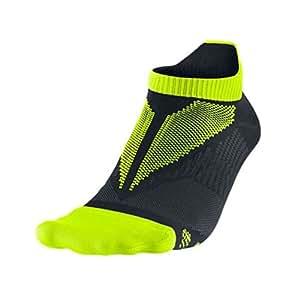 Nike Elite Running Men's Hyper-Lite No Show Socks SX4794 Black Size Large