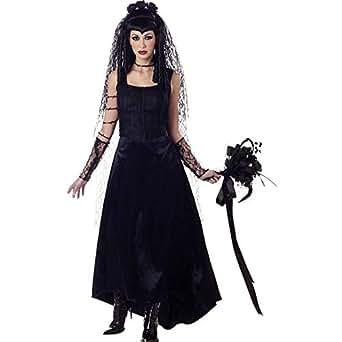 Gothic Bride Adult Costume (Size: Large 10-12)