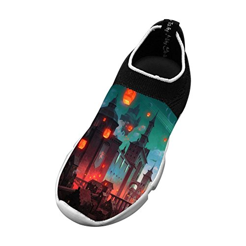 (Bridge Building City Flyknit Shoes Light Sports Transform Running Shoes For Kids)