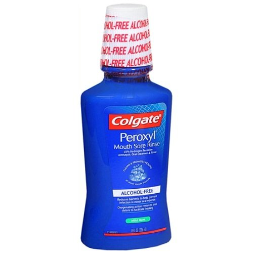 Peroxyl Antiseptic - Colgate Peroxyl Mouth Sore Rinse, Antiseptic Oral Cleanser & Rinse, Mint 8 fl oz (Pack of 3)