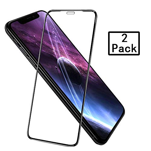 (Screen Protector Compatible for iPhone X/XS,3D iPhone X/XS Tempered Glass Screen Protector,Advanced Clarity ,No Bubbles,High Touch Accurate)
