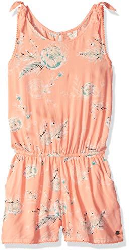 Roxy Girls' Big Jungle Birds Romper Dress, Salmon Flowers in The air, 12/L
