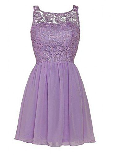 della chiffon pizzo Lavender abito onore bellezza Prom Dress in da damigella Leader d' 4qBZZ