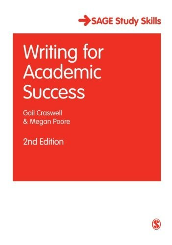 Writing for Academic Success (SAGE Study Skills Series) by Gail Craswell (2012-03-05)
