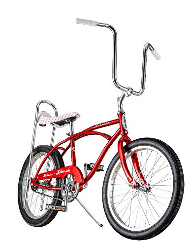 Schwinn Classic Sting-Ray Boy's Single-Speed Bicycle, Featuring 13-Inch/Small Step-Over Steel Frame, Rear Coaster Brake, High-Rise Ape Handlebars, and 20-Inch Wheels, Red (Adult Banana Seat Bicycle)
