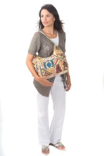 Zimbelmann Ruth Schultertasche aus echtem Nappa-Leder - handbemalt 554aa