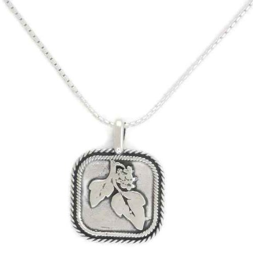 Silver Jewelry, 925 Sterling Silver Necklace with Single Charm. Custom Hand Made and Designed in Israel By Bili Silver. Charm with