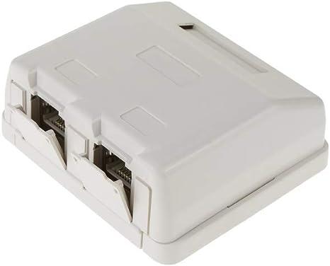 BeMatik - Caja de superficie de 2 RJ45 Cat.6 FTP: Amazon.es: Informática