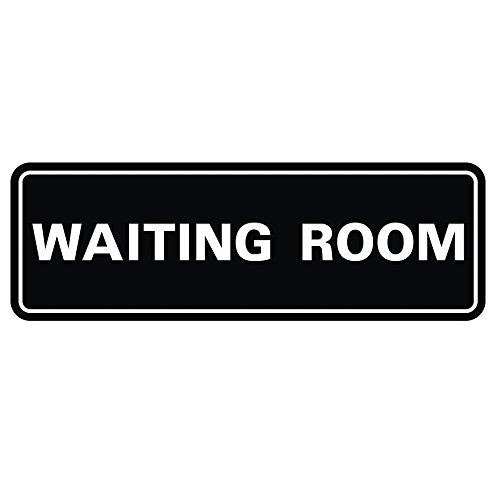 Standard WAITING ROOM Door / Wall Sign - Black - Small