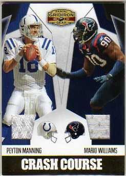 2010 Panini Gridiron Gear Crash Course Jerseys #3 Peyton Manning Mario Williams Game-Worn Jersey Card Serial #'d/250