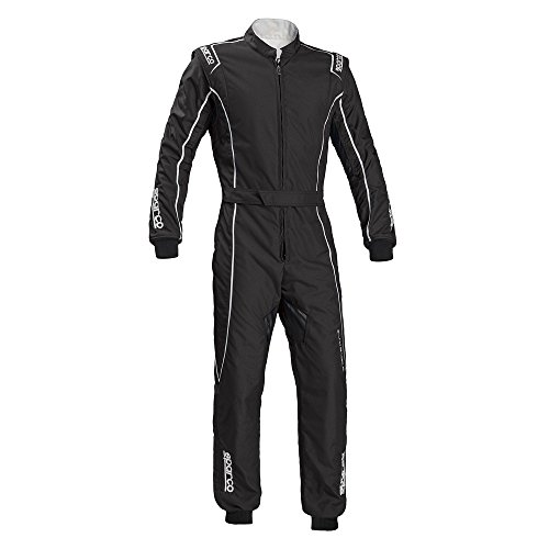 Sparco Groove KS-3 Kart Racing Suit 002334 (Size: Large, Black/Silver) -