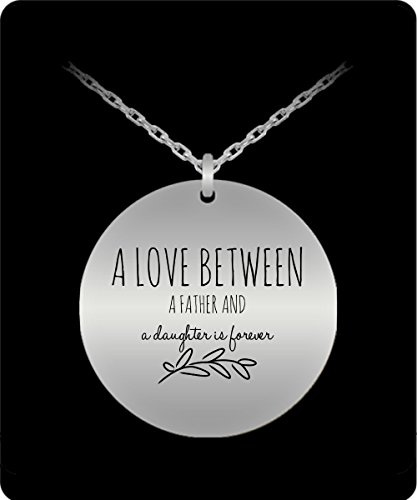 Mark Bridges Costume (Dad Daughter Necklace - Love Jewelry Pendant - Stainless Steel Silver Chain Charm - Great Gift From Father)
