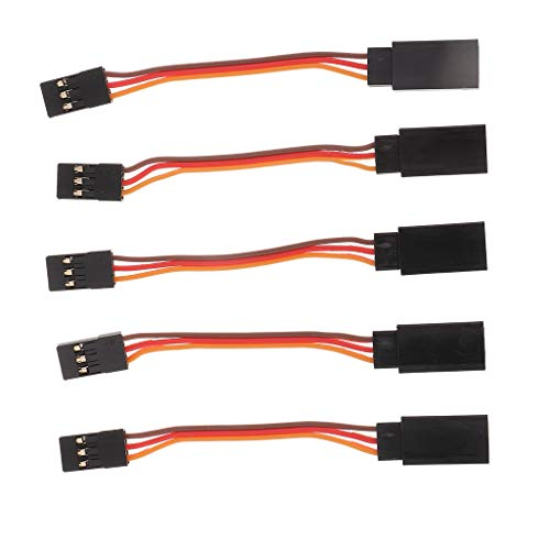 B Blesiya La Extensión del Cable Servo 5pcs Amplía El Cable De La Ventaja para El Avión De RC 50/100/150 / 300m M - 50 mm