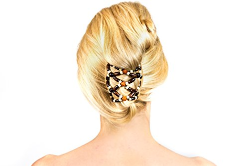 Accessories for long hair - Thick Hair claw clip bun hair accessory for girls- hair combs - Donut Bun - Bun Maker-Hot Hair Donut Bun Ring Styler Maker Brown - combs - Accessory-Women, girls, teens, bridal, wedding, pearl, silver plated, stainless steel, formal, casual, easy, fast, quick, no-damage, effortless, styling, elegant, clip, lovely, no crease, bead, bamboo, fashion, swarovski, crystal, rubber comb